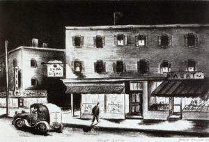 Grant Arnold, Street Scene, lithograph